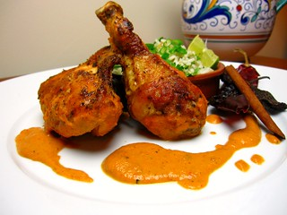 Pollo en Salsa de Cacahuate (Mexican Dish: Chicken with Peanut Sauce) | by SeppySills