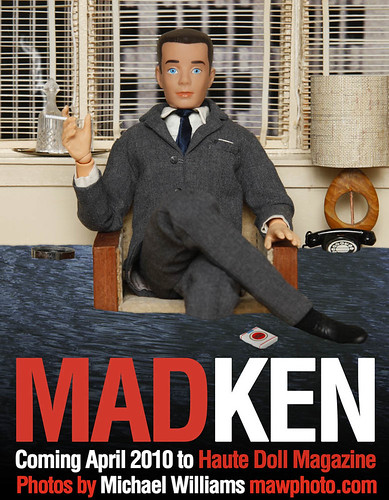 MAD KEN tribute to Golden Globe Winner MAD MEN | by MyLifeInPlastic.com