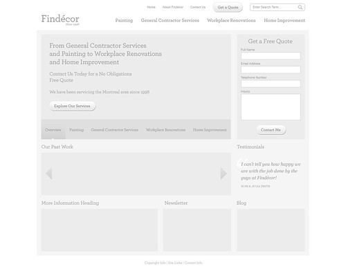 Wireframe for Findecor Redesign | by krystianf
