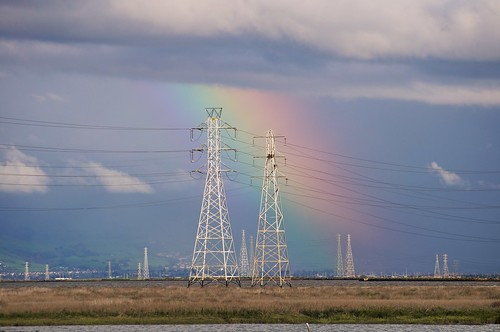 Rainbow and Power Lines at the Palo Alto Baylands | by donjd2