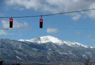 Pikes Peak from stoplight | by kafski