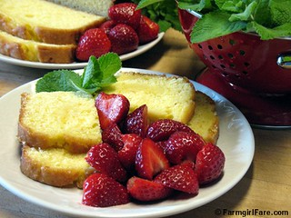 Easy Orange Loaf Cake with Garden Strawberries | by Farmgirl Susan