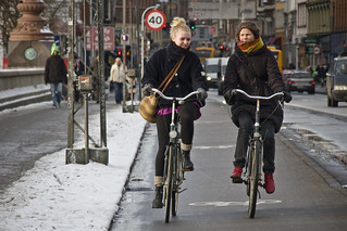 Conversation Lane - Cycling in Winter in Copenhagen | by Mikael Colville-Andersen
