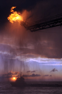 Deepwater Horizon Flaring Operation | by DVIDSHUB