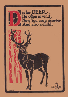 D is for Deer illustrated by W.F. White | by katinthecupboard
