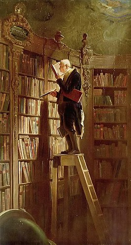 Spitzweg, Carl (1808-1885) - 1850 The Bookworm (Museum Georg Schafer, Schweinfurt, Germany) | by RasMarley