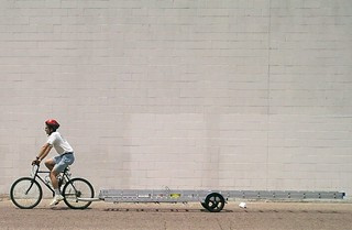 Hauling a 32 foot ladder by bike | by Mark Stosberg