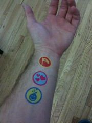 Temporary tattoos of @foursquare badges!  See you @ SXSW! | by dpstyles™