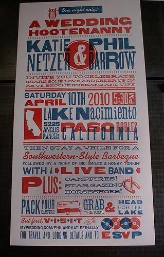 Letterpress Wedding Poster: Katie & Phil | by smokeproof