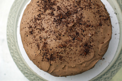 chocolate espresso cake with chocolate mascarpone frosting | by sassyradish