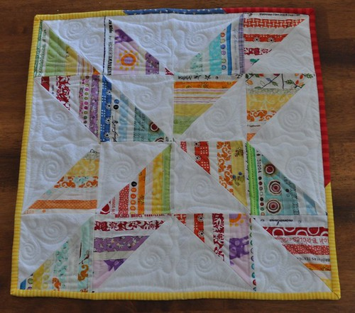 selvage pinwheel quilt for PQS5 | by vickivictoria