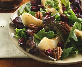 Pear and Greens Salad with Maple Vinagrette Recipe | by Betty Crocker Recipes