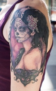 Sugar Skull, Sylvia Ji | by Mez Love