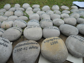 Newly Inscribed Stones w/ Names of Victims | by The Advocacy Project