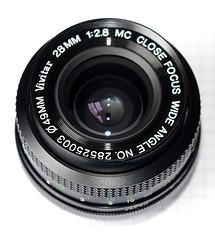 Vivitar 28mm f2.8 K02(R) Front View
