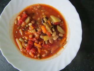 Vegetable and Bean Soup | by veganbackpacker