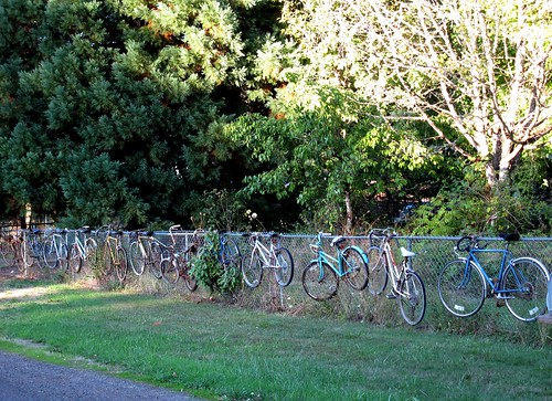 The Great and World Famous Corvallis, Oregon Bicycle Fence | by Pixel Packing Mama