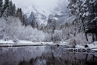 Wintry Cathedral Beach, Yosemite National Park | by Robin Black Photography