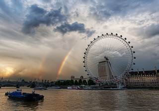 Rainbow over the London Eye | by Stuck in Customs