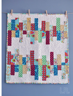 'Random Reflections' baby quilt | by LRstitched