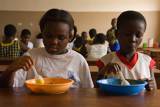 Children having a meal at school | by World Bank Photo Collection