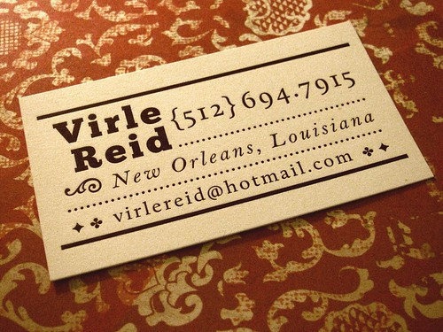 Letterpressed Business Card | by ClipCreative