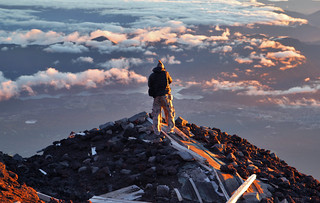 A photographer capturing view from Mt Fuji | by diloz