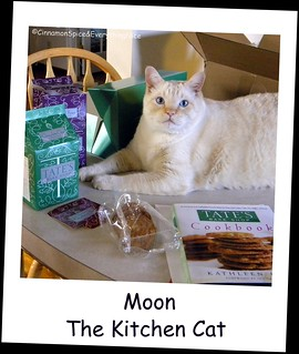 Moon The Kitchen Cat and Tate's Cookie and Cookbook Giveaway | by CinnamonKitchn