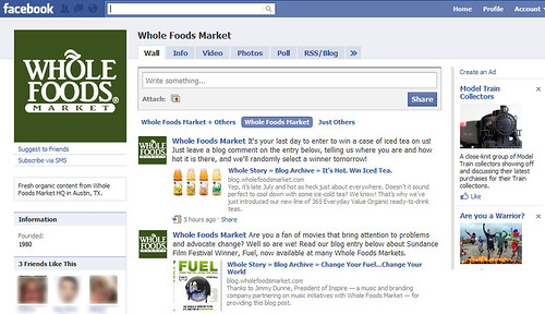 Whole Foods Market's page on Facebook | by Si1very