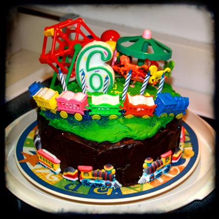 Birthday Cake Images For 5 Year Old Boy : fun carnival train birthday cake for 6 year old boy ttv ...