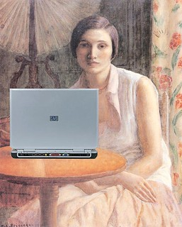 Portrait of a Woman Blogger, after Frederick Carl Frieseke | by Mike Licht, NotionsCapital.com