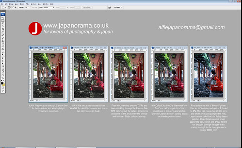 Post-processing workflow on the shot of the lady at Hie Shrine | by Alfie | Japanorama