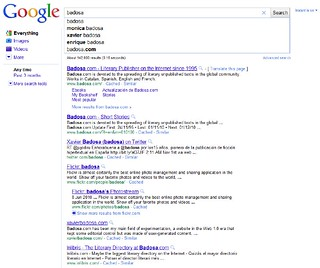 Badosa Google Suggest | by badosa