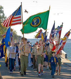 Scouts Present the Colors | by metadata man