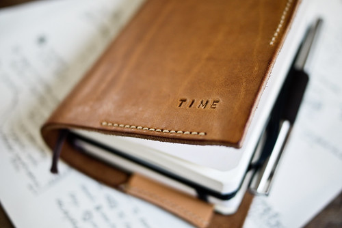 Moleskine Time/Note, Penholder and leather cover | by Patrick Ng