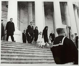 Photograph of the John F. Kennedy Family Members Leaving the Capitol Building, 11/24/1963. | by The U.S. National Archives