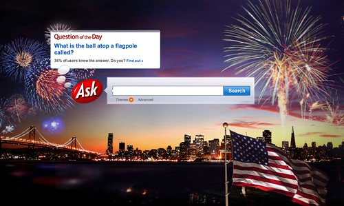 Ask.com July 4th Logo | by rustybrick