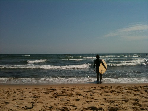 First day out surfing this summer (I know, I know). @kathryntucker took this from beach (Ditch Plains, Montauk) | by dpstyles™
