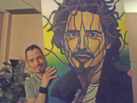 Chris Cornell with his TTW Painting | by Timothy Teruo Watters' Art