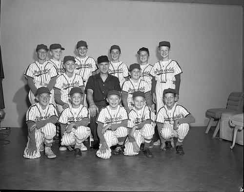 Gronvolds 1958 gronvold motors little league baseball for U motors fargo north dakota