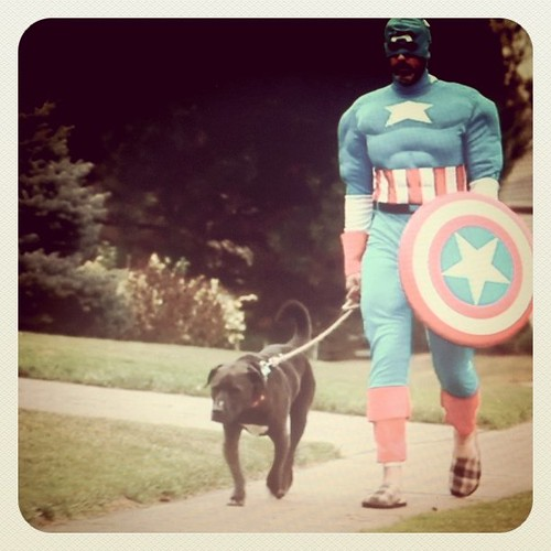 Captain America walks his dog (first cut) | by wiseacre photo