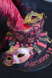 Masquerade Mask Cake Decorations