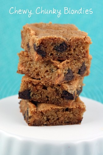 Chewy, Chunky Blondies - Tuesdays with Dorie | by Food Librarian