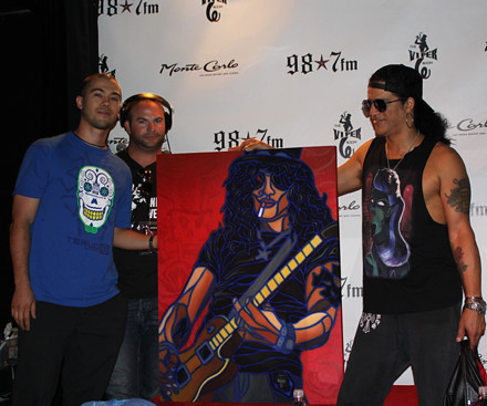 Slash with his TTW Painting | by Timothy Teruo Watters' Art