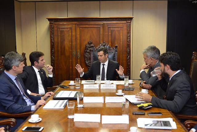 Reunião no Ministério dos Transportes