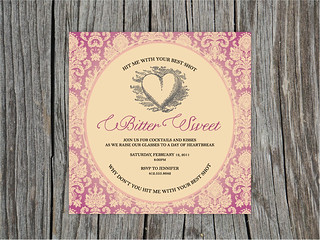 Bittersweet - Valentine's Day Party Invitation | by blush printables