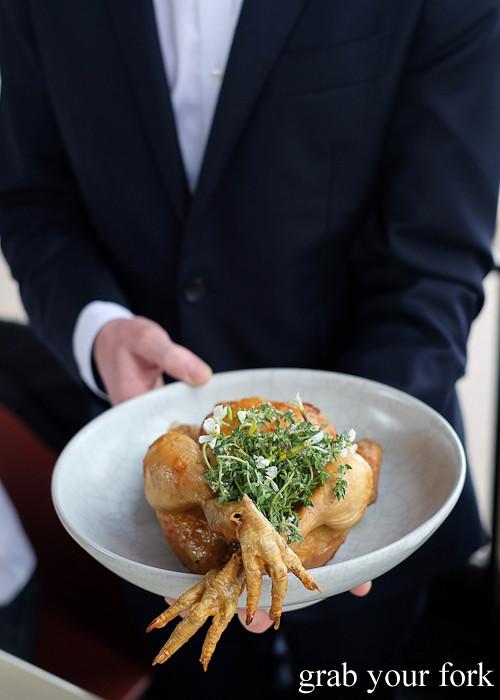 Roasted Holmbrae chicken at Bennelong Restaurant Sydney