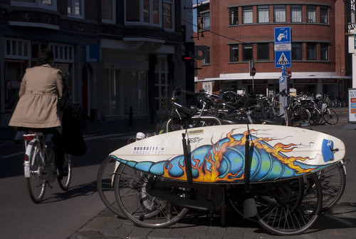 Surfboard on a bike! | by travelling two