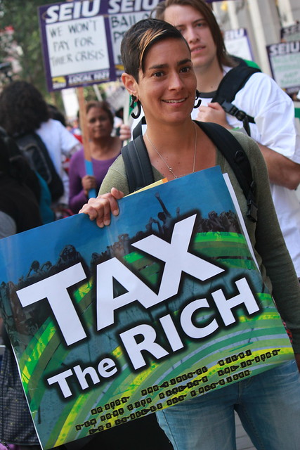 We have a Right to the City. Tax the Rich.