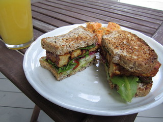 homemade tempeh sandwich | by veganbackpacker